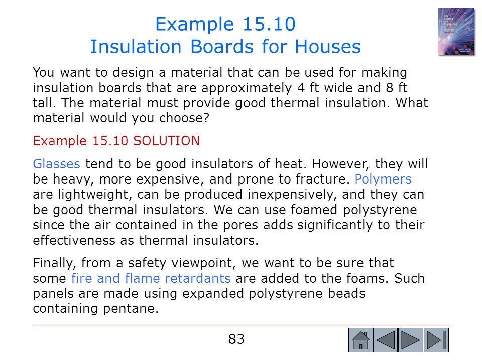 Example 15.10 Insulation Boards for Houses