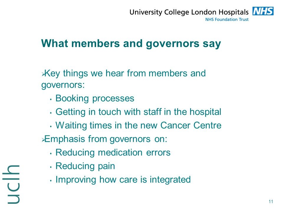 What members and governors say