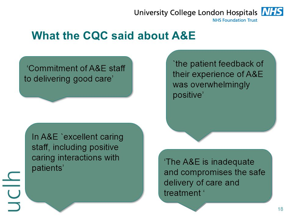 What the CQC said about A&E