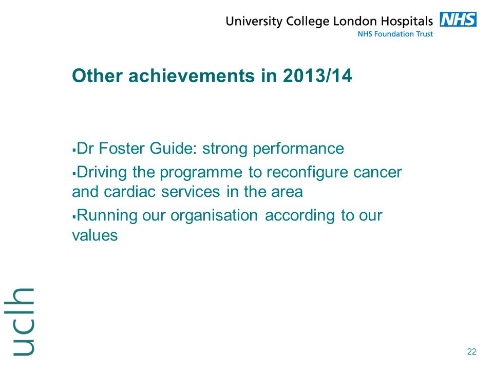 Other achievements in 2013/14