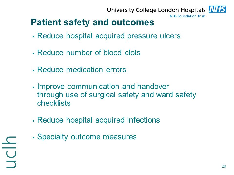 Patient safety and outcomes