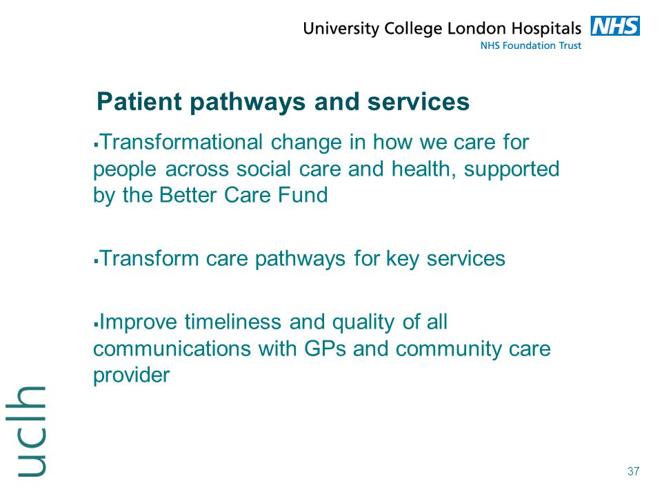 Patient pathways and services