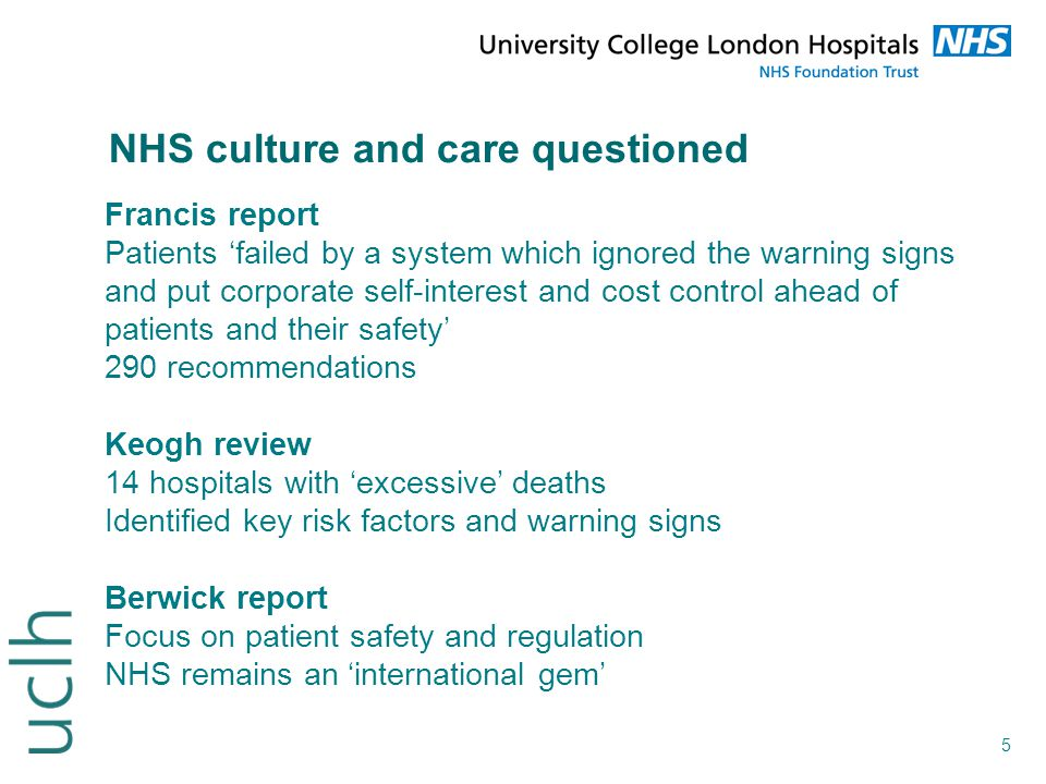 NHS culture and care questioned