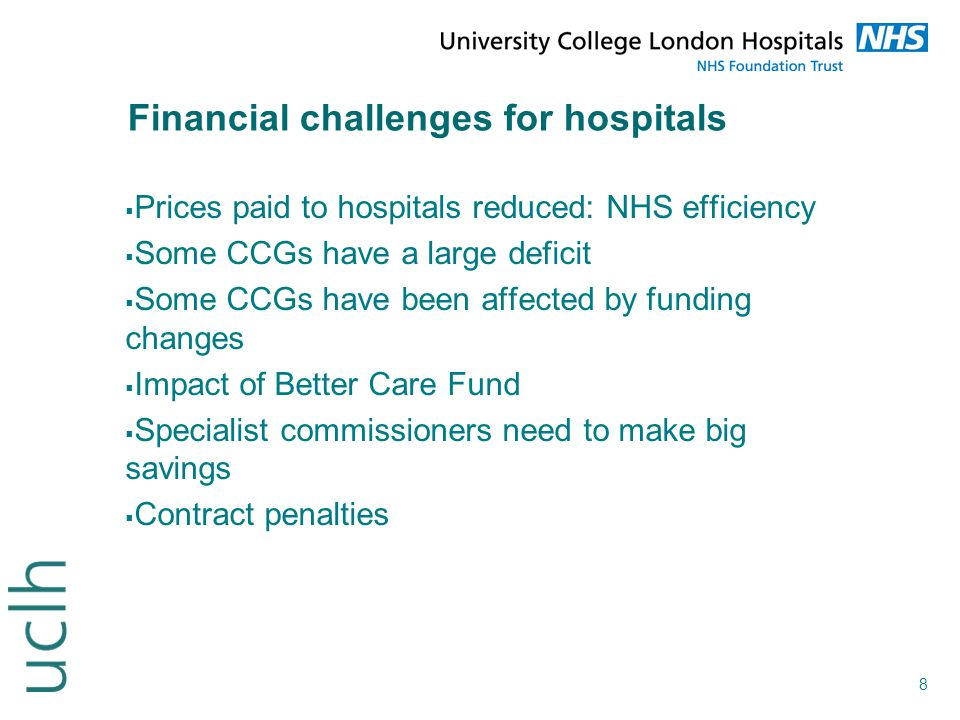 Financial challenges for hospitals