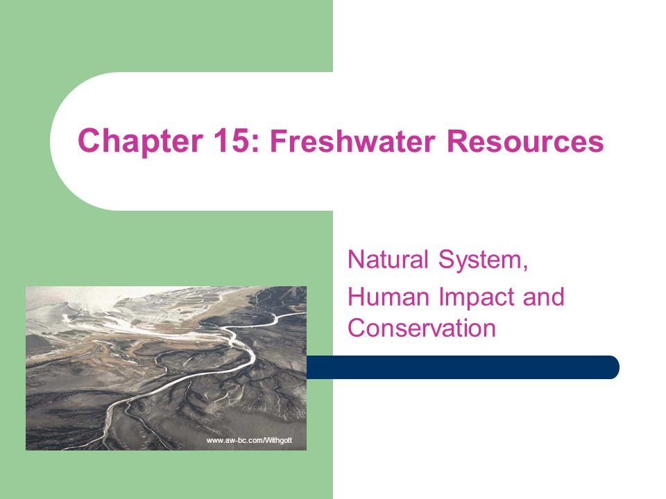 Chapter 15: Freshwater Resources