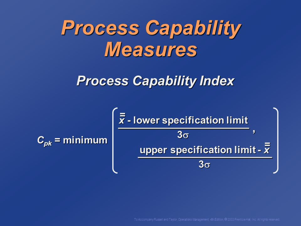 Process Capability Measures