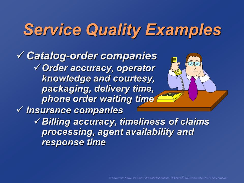 Service Quality Examples