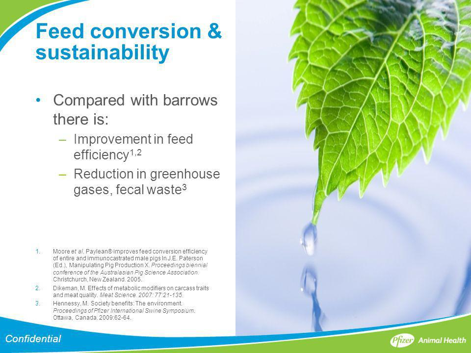 Feed conversion & sustainability
