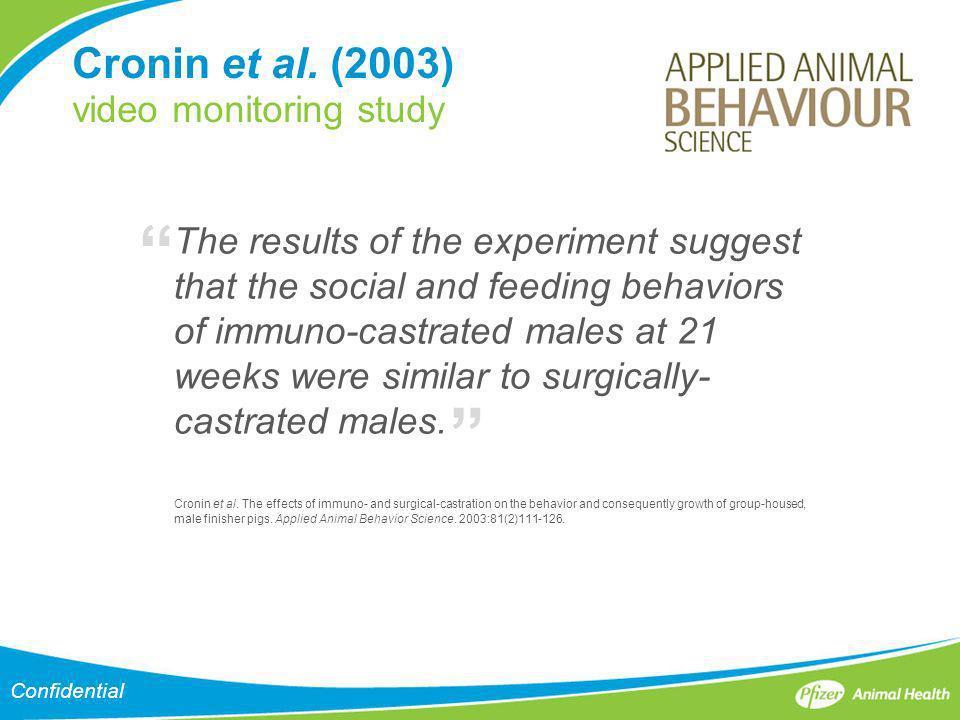 Cronin et al. (2003) video monitoring study