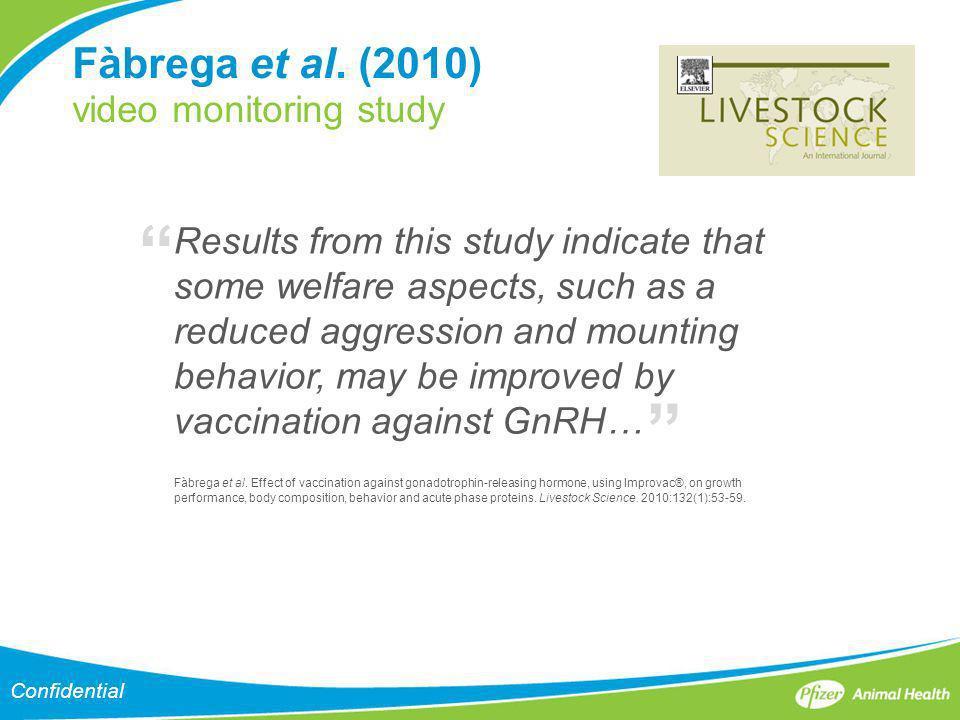 Fàbrega et al. (2010) video monitoring study