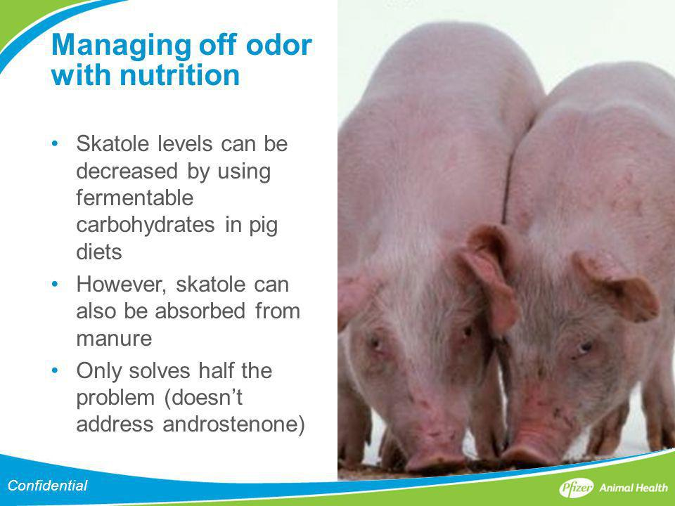 Managing off odor with nutrition