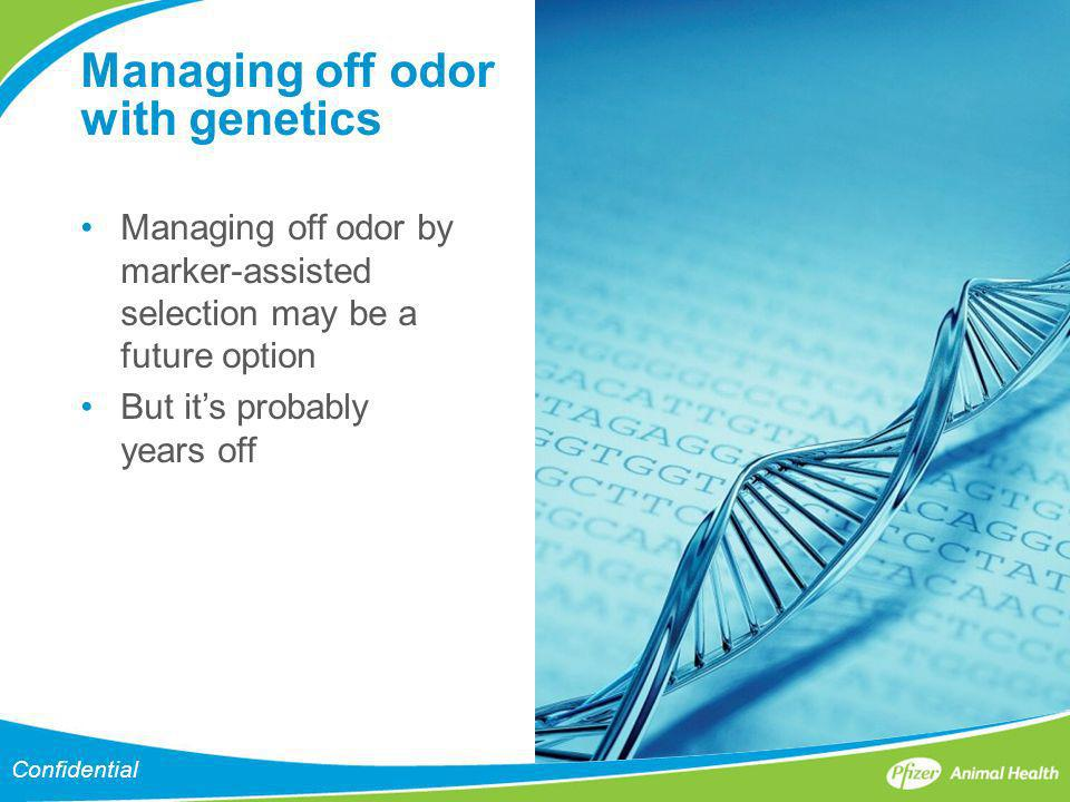 Managing off odor with genetics