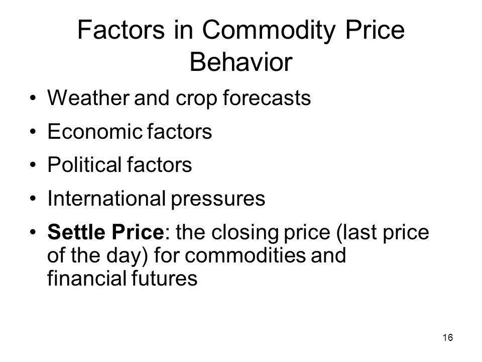 Factors in Commodity Price Behavior