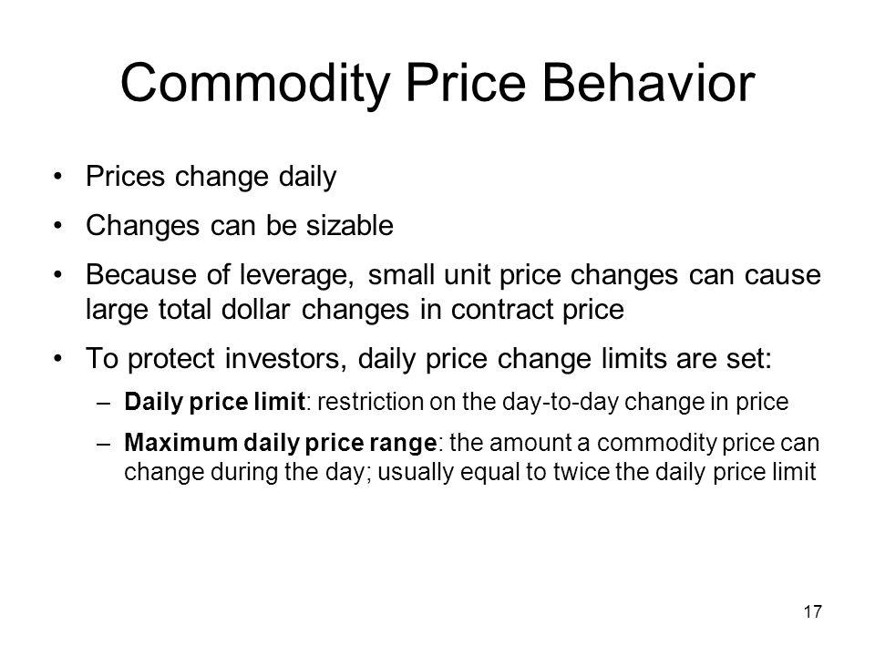 Commodity Price Behavior