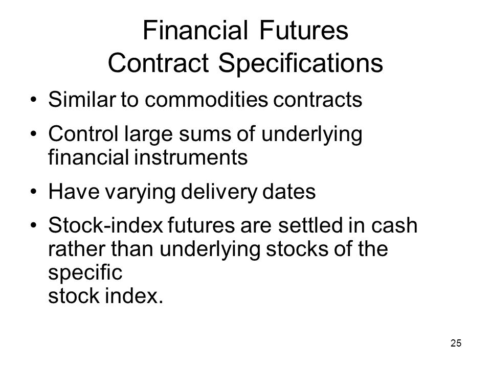 Financial Futures Contract Specifications