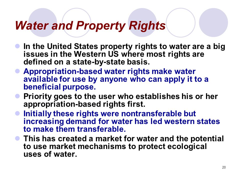Water and Property Rights