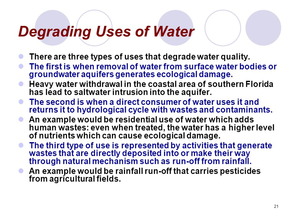 Degrading Uses of Water
