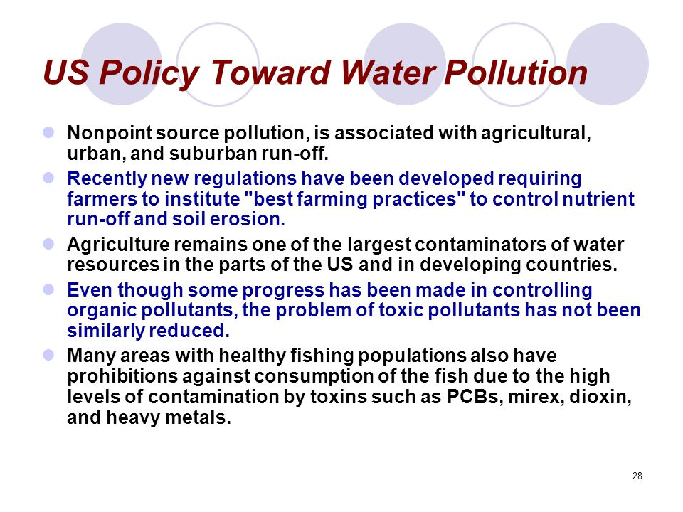 US Policy Toward Water Pollution