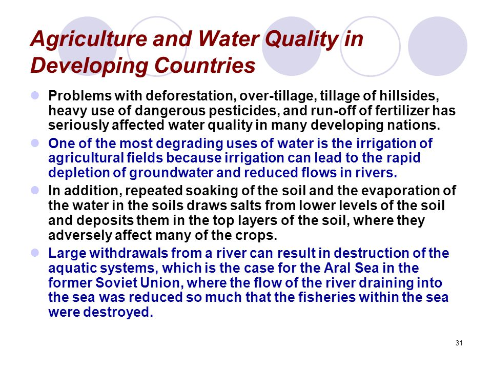 Agriculture and Water Quality in Developing Countries