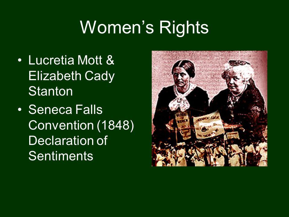 Women's Rights Lucretia Mott & Elizabeth Cady Stanton