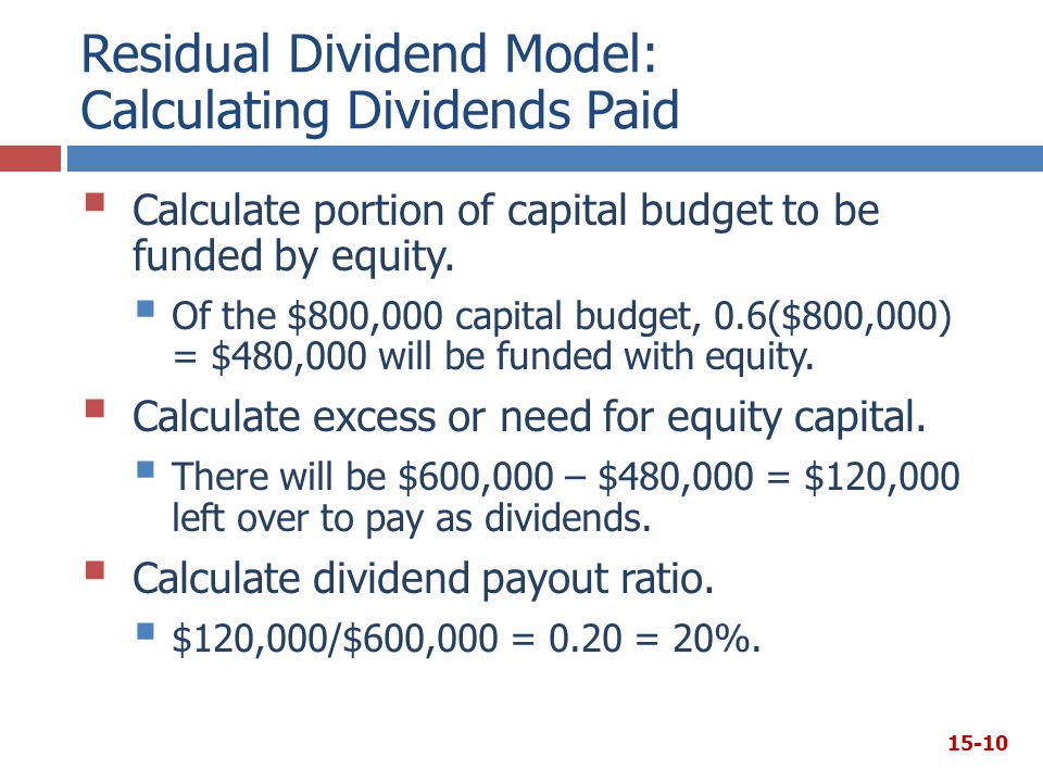 Residual Dividend Model: Calculating Dividends Paid