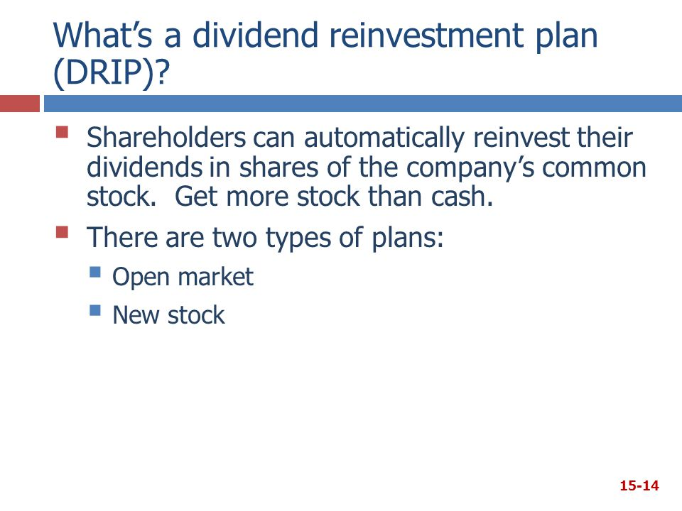 What's a dividend reinvestment plan (DRIP)