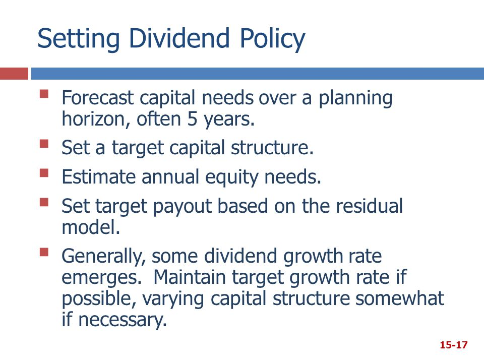 the setting of dividend policy But on january 17, the company announced on its website there would be a change in dividend policy, setting a minimum annual dividend payout for 2017 and 2018 at the level of $550 million and beginning from 2019.