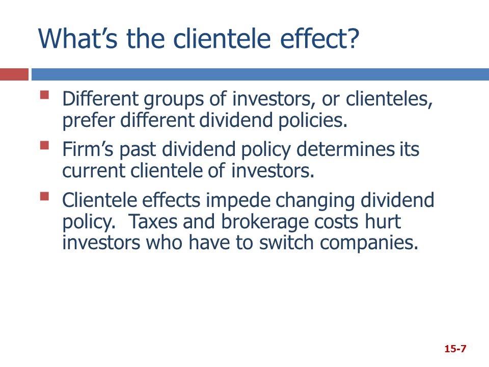 What's the clientele effect