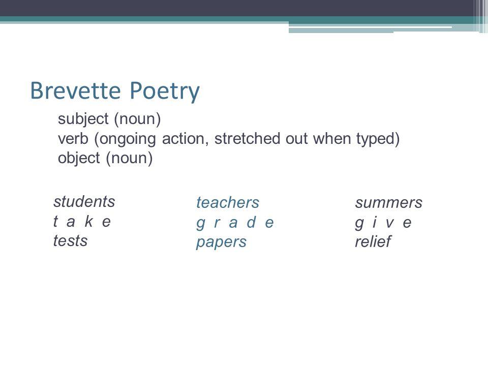 Brevette Poetry subject (noun)