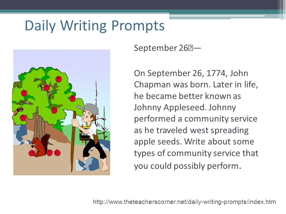 Daily Writing Prompts September 26 —