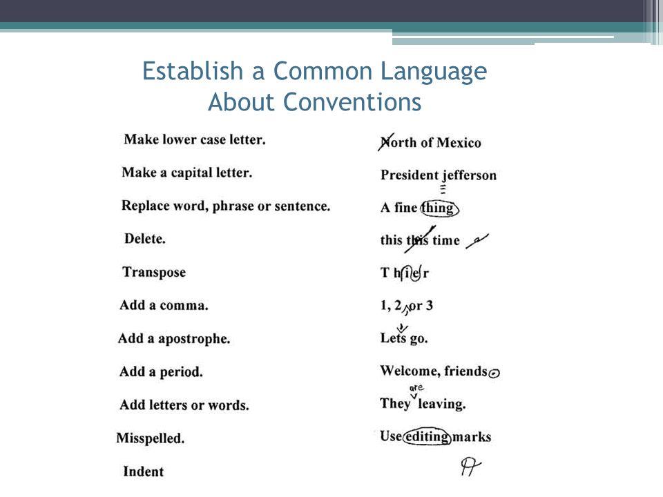Establish a Common Language About Conventions