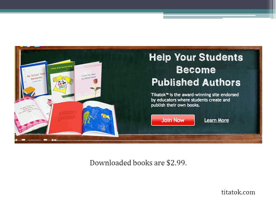 Downloaded books are $2.99. titatok.com