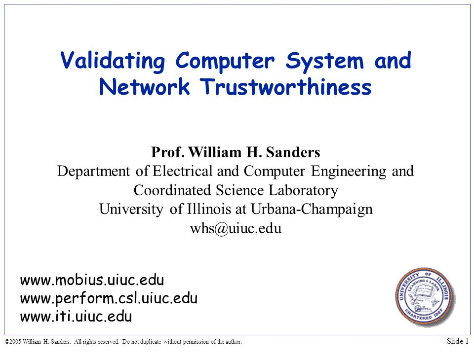 Validating Computer System and Network Trustworthiness