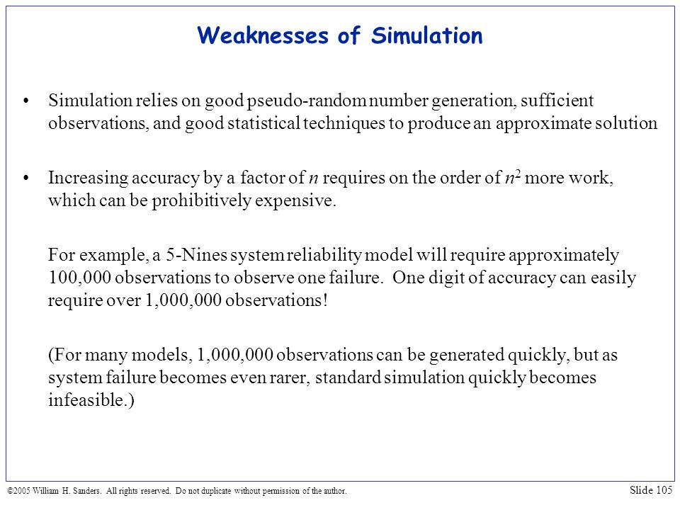 Weaknesses of Simulation