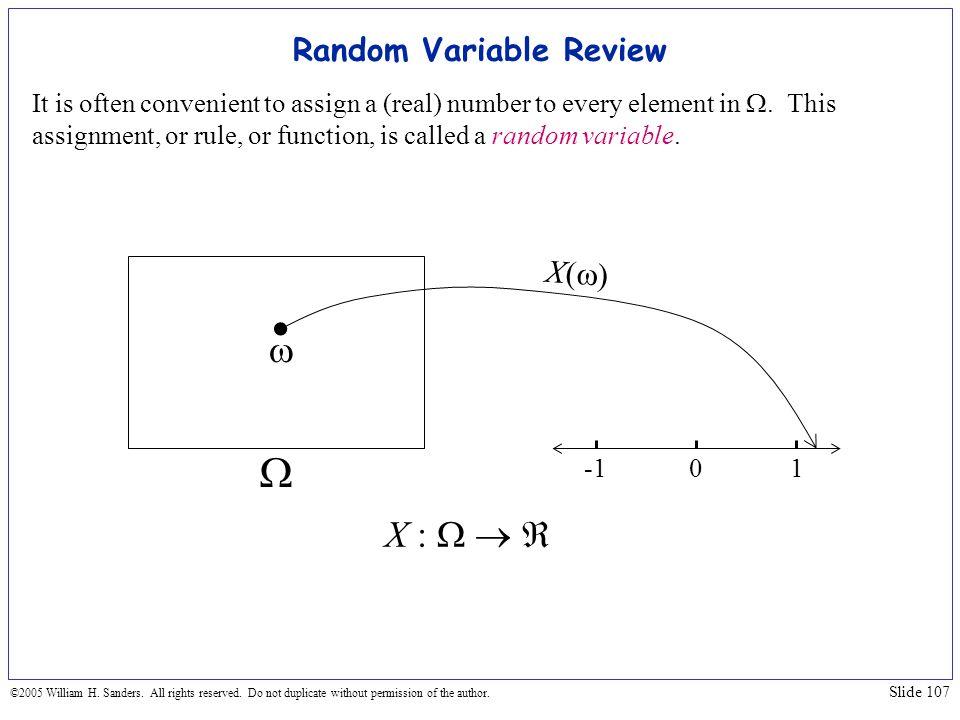 Random Variable Review