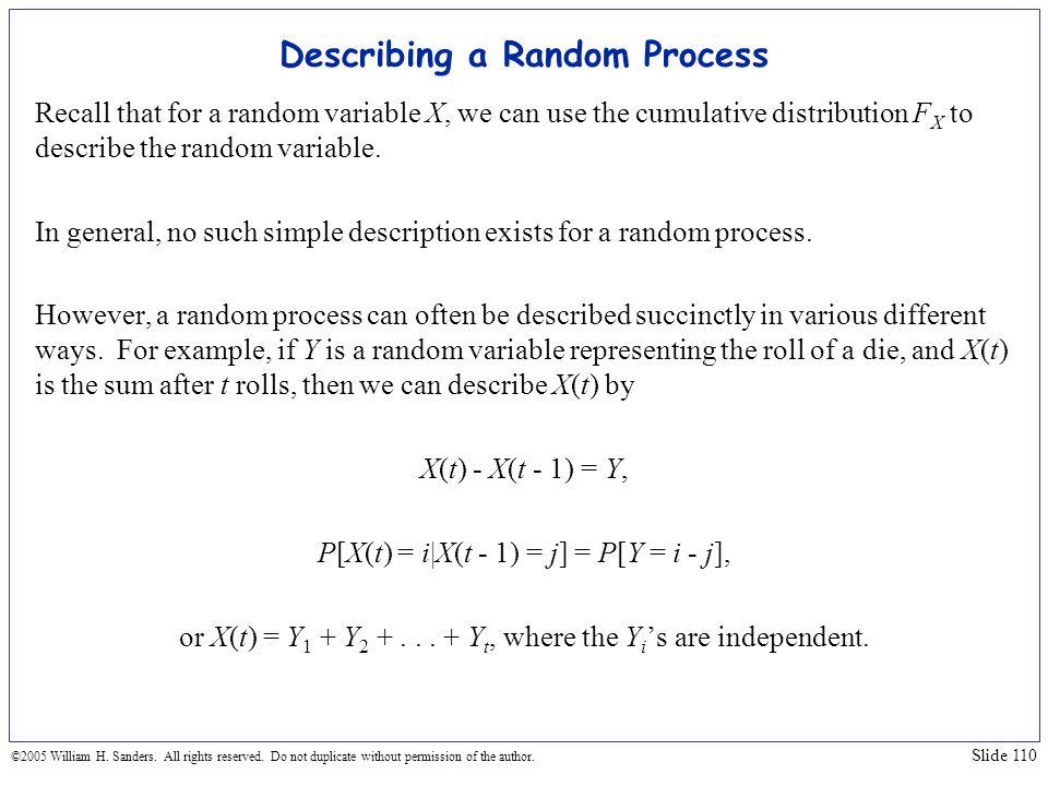 Describing a Random Process