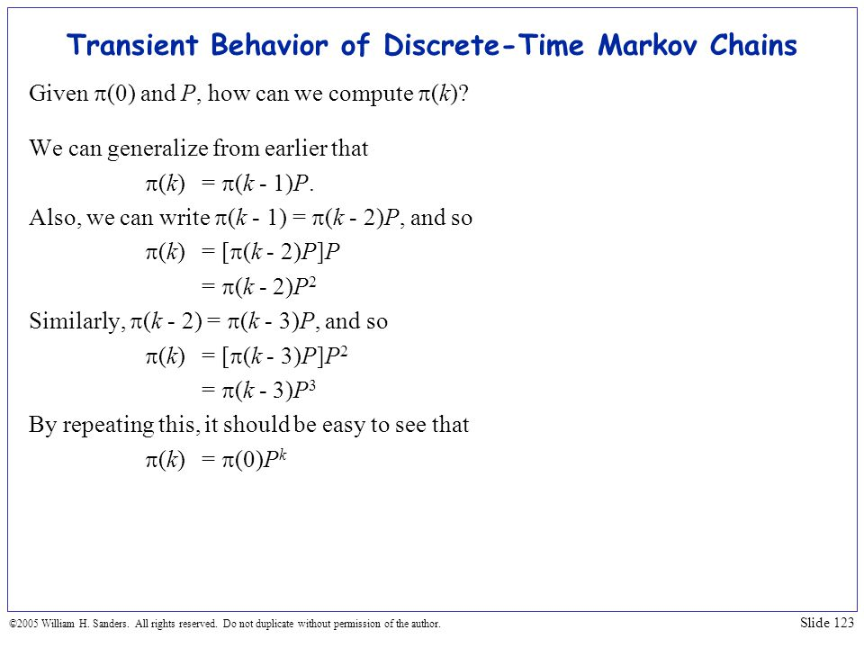 Transient Behavior of Discrete-Time Markov Chains