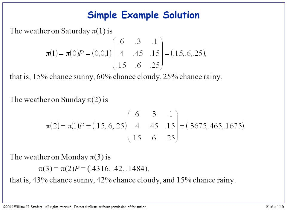 Simple Example Solution