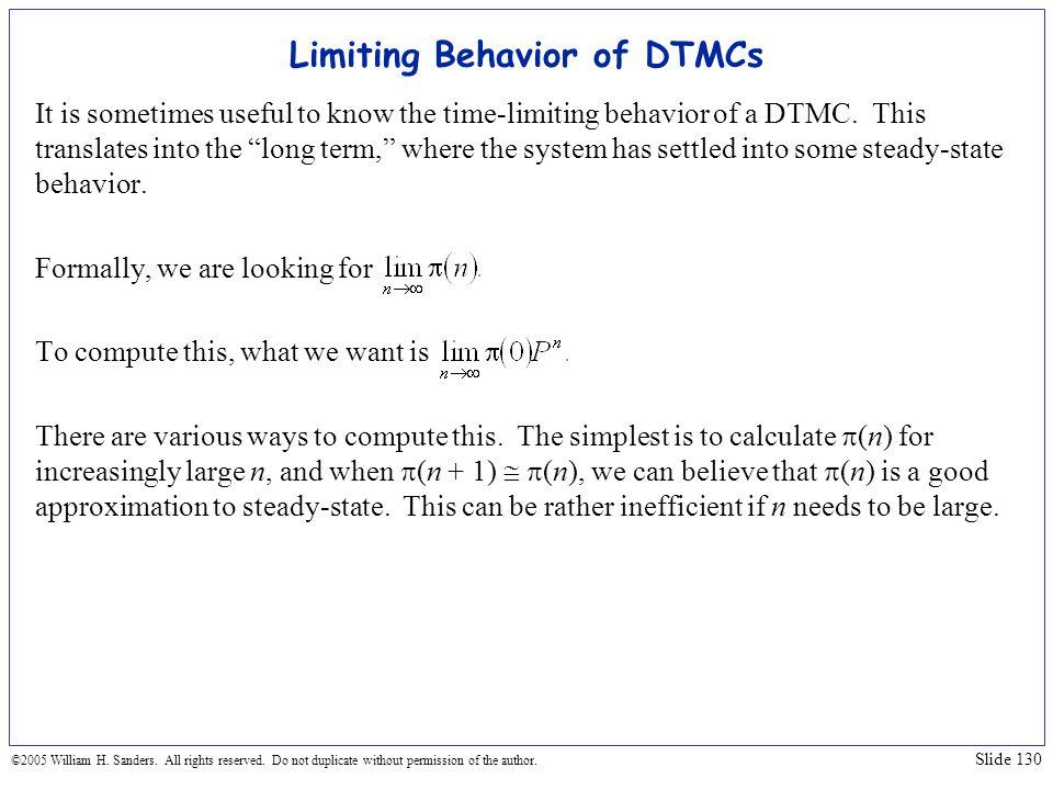 Limiting Behavior of DTMCs
