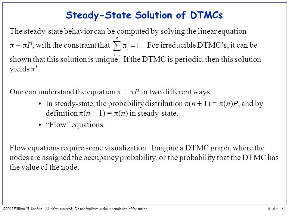 Steady-State Solution of DTMCs