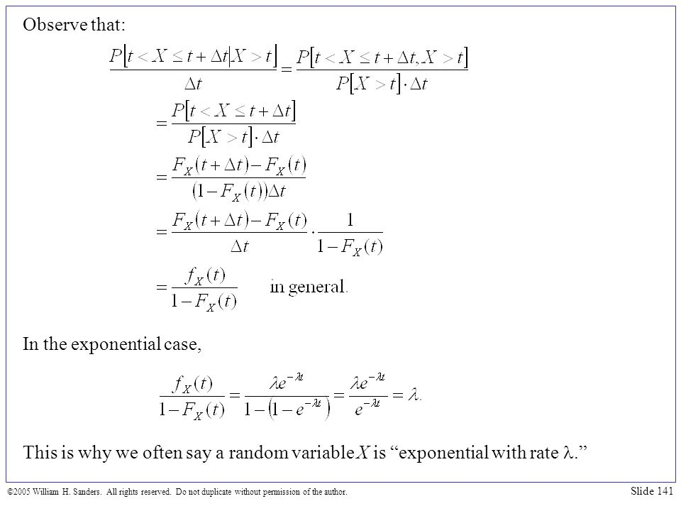In the exponential case,