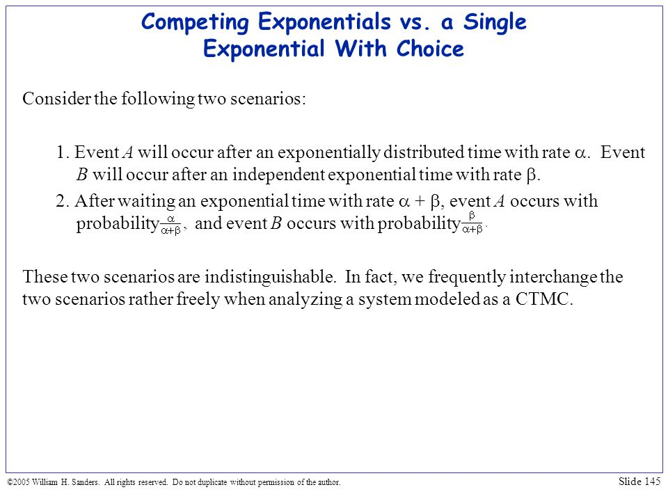 Competing Exponentials vs. a Single Exponential With Choice