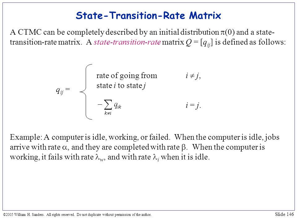 State-Transition-Rate Matrix