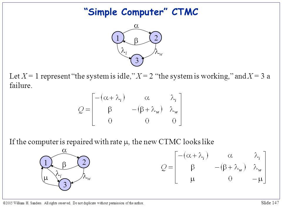 Simple Computer CTMC