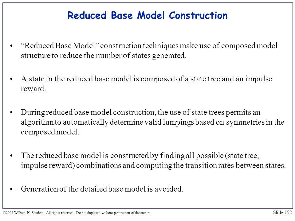 Reduced Base Model Construction