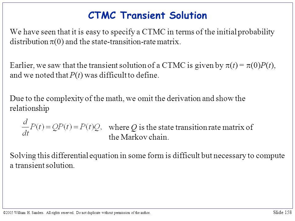 CTMC Transient Solution