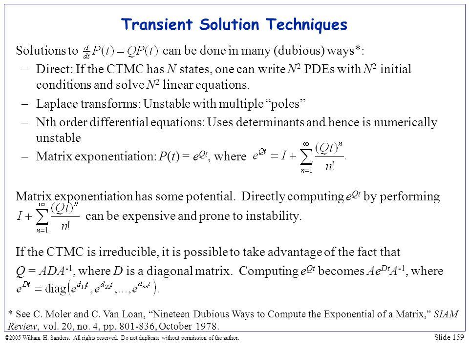 Transient Solution Techniques