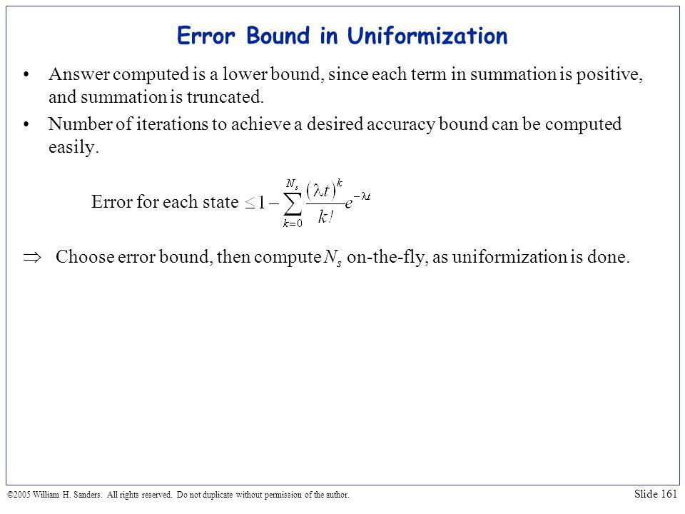 Error Bound in Uniformization
