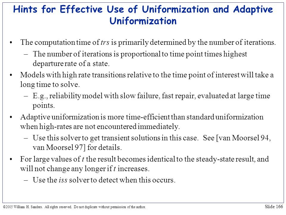 Hints for Effective Use of Uniformization and Adaptive Uniformization