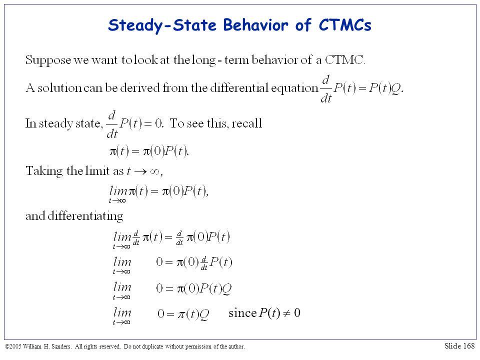 Steady-State Behavior of CTMCs